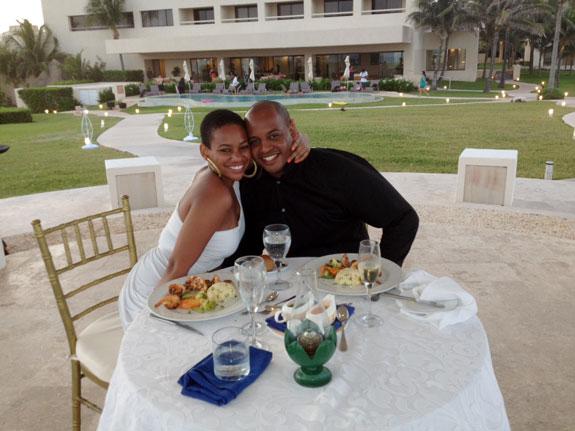Claudia Frederico, left, and Zuri Berry in Cancun, Mexico.