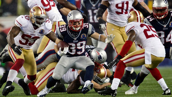 Danny Woodhead was the lone bright spot for the Patriots.