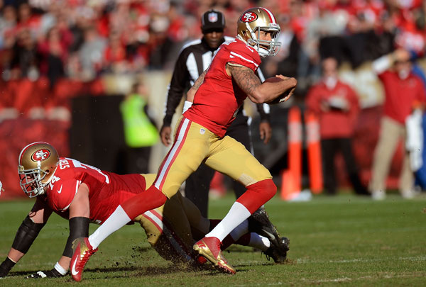 49ers quarterback Colin Kaepernick will provide an entirely different dynamic when  San Francisco hosts the Green Bay Packers in their NFC divisional matchup.