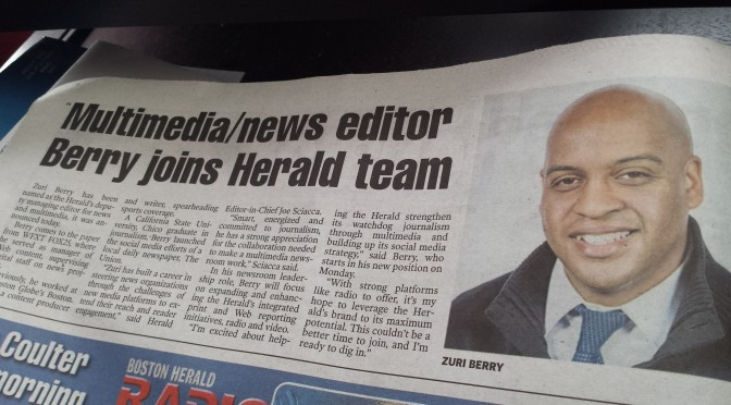 I'm joining the Boston Herald
